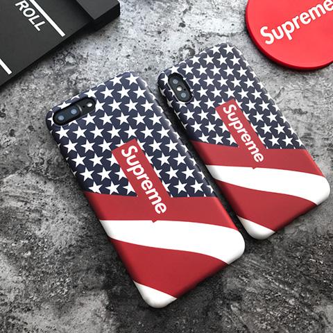シュプリーム 星条旗 アメリカ国旗 iPhoneXケース